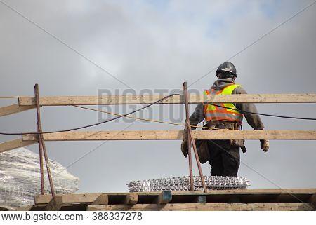 Construction Site Worker Roof Building Contractor Hat