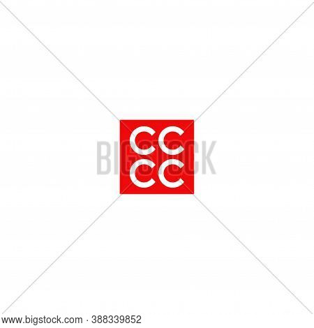 Four Letter C In Square Concept. Very Suitable In Various Business Purposes, Also For Icon, Symbol A