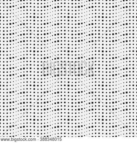 Monochrome Seamless Background Vector. Modern Minimalist Texture. Spotted Abstract Texture With Smal