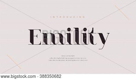 Elegant Alphabet Letters Font And Number. Classic Copper Lettering Minimal Fashion Designs. Typograp