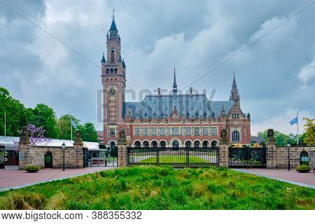 The Peace Palace international law administrative building in The Hague, the Netherlands houses the International Court of Justiceis