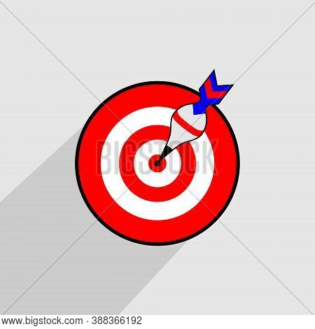 Target Target Icon. Marketing Targeting Strategy Symbol. Aim At The Target With Arrows. Archery Or G
