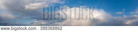 Panorama of summer sky background