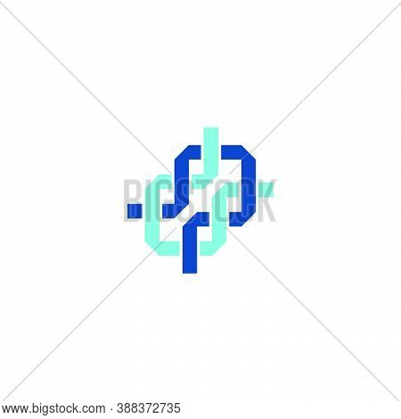 A Corporate Logo Of Two Interlocking Square Ribbons