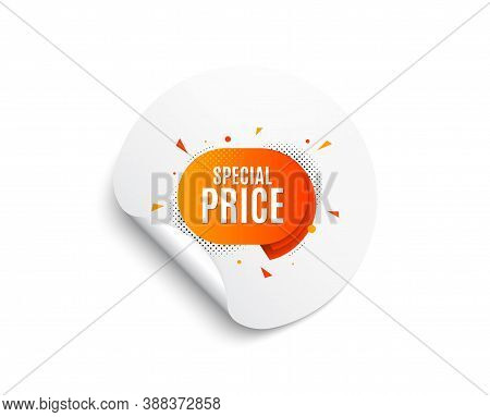 Special Price Sticker. Circle Sticker With Offer Banner. Discount Banner Shape. Sale Coupon Bubble I