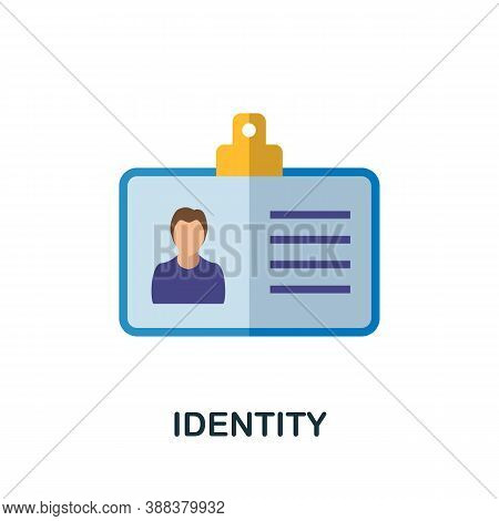 Identity Icon. Simple Element From Branding Collection. Creative Identity Icon For Web Design, Templ