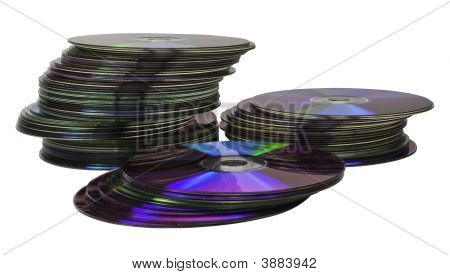 Piles Of Cds And Dvds