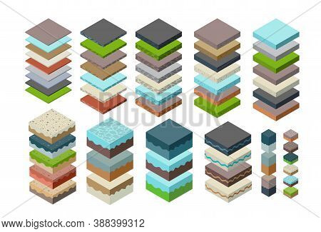 Soil Layers Cross Section Geological Green Grass