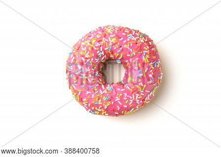 Donut Donuts On A White Background Close-up. Isolate