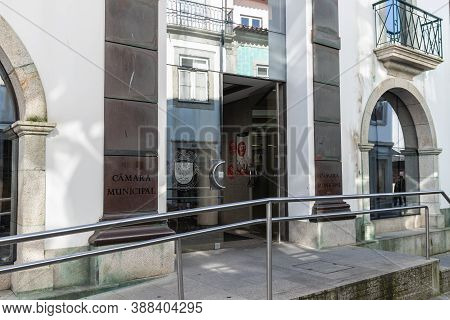 Architectural Detail And Street Ambience Of The Town Hall Of Esposende, Portugal