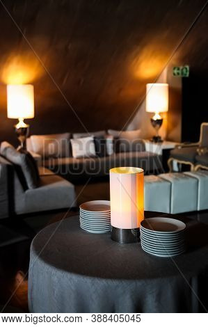 Lights And Decorations For A Party Event Or Gala Dinner