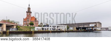 Dortmund, North Rhine Westphalia, Germany - October 19, 2018: Old Port Authority, Altes Hafenamt, In