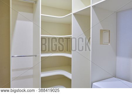 Installed New Built-in Furniture In The Pantry, Dressing Room, Background