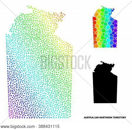 2d Polygonal And Solid Map Of Australian Northern Territory. Vector Model Is Created From Map Of Aus