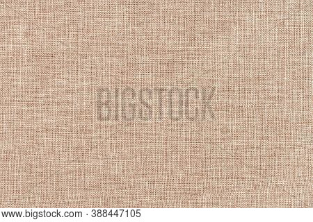 Beige Cotton Woven Sofa Cushion Fabric Texture Background. High Resolution Photography