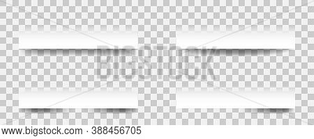 Realistic Paper Shadow Effects. Vector Paper Shadow On Transparent Background.