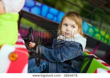 Girl At Park Amusement
