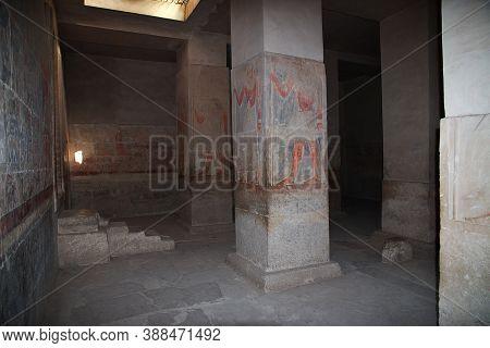 Saqqara, Egypt - 04 Mar 2017: The Ancient Necropolis Of Saqqara, In The Desert Of Egypt