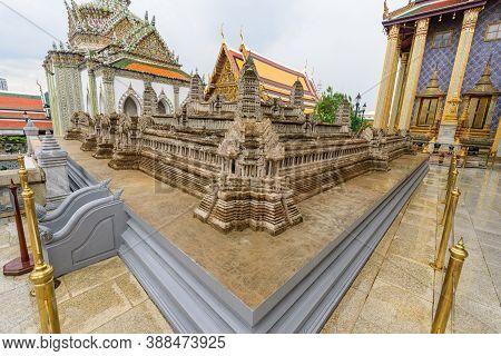 Bangkok, Thailand - 16 September, 2020: Mock Model Of Angkor Wat In  Wat Phra Kaew Or Name The Templ