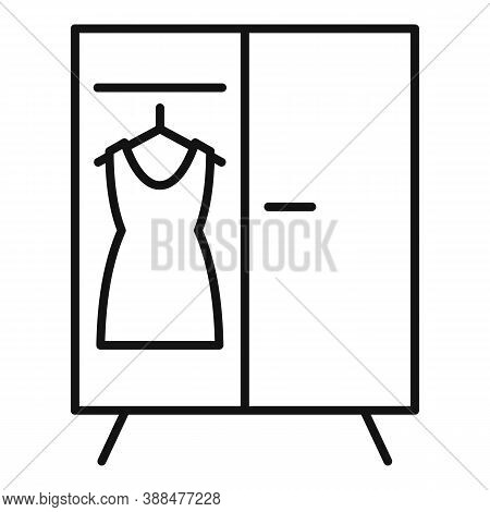 Childrens Room Dressing Wardrobe Icon. Outline Childrens Room Dressing Wardrobe Vector Icon For Web