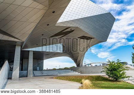 Lyon, France - Sep 27, 2020: Musee Des Confluences Is A Science And Anthropology Museum Which Opened