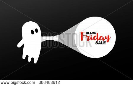 Black Friday Sale For Halloween Banner. Cheap Price. Vector On Isolated Background. Eps 10