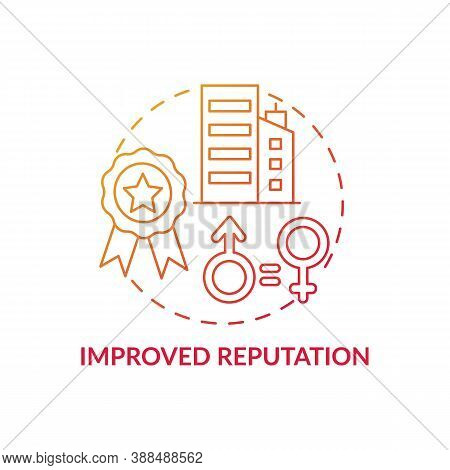 Improved Reputation Concept Icon. Gender Diversity Policy Benefits. Better Looking Resume. Working P