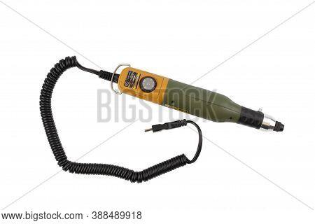 Zaporizhzhya, Ukraine - October 6, 2020: Proxxon Mill/drill Unit Micromot.