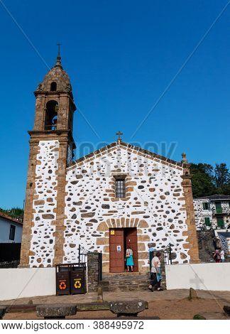 San Andres De Teixido, Spain - September 13, 2020:  San Andres De Teixido Shrine In Cedeira, Galicia