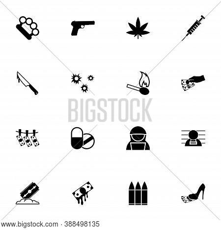 Crime Icon - Expand To Any Size - Change To Any Colour. Perfect Flat Vector Contains Such Icons As H