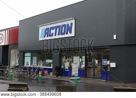 Aalst, Belgium, 6 October 2020: Exterior View Of An Action Store In Flanders. Action Is The Biggest
