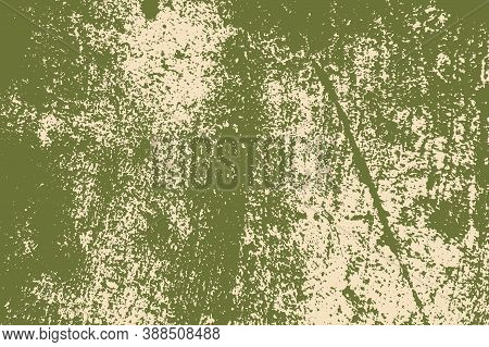 Distress Green Messy Grunge Texture. Empty Design Element. Rustic Color Weathered Background. Aged P