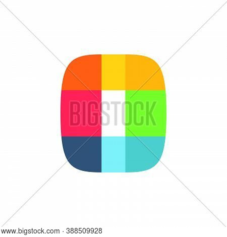 O Letter Logo Colored Brightly And Vividly With Colors Overlay. You Can Use It In Your Corporate Ide