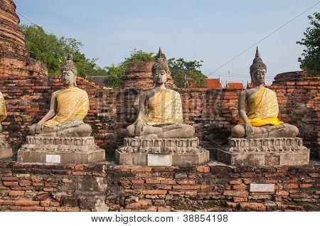 Buddha At Wat Yai Chai Mongkol