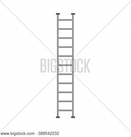 Special Firetruck Ladder Equipment, Flat Cartoon Vector Illustration Isolated