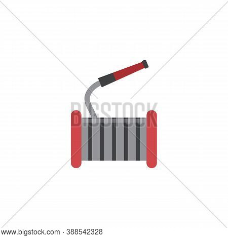 Fire Hose Reel Icon Isolated On White Background. Firetruck Equipment