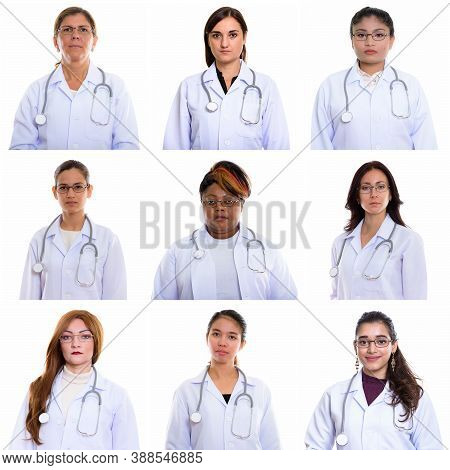 Collage Of Multi Ethnic And Mixed Age Women As Doctors
