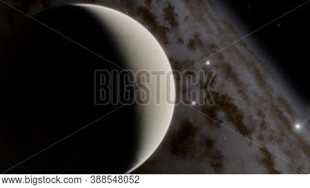 Super-earth Planet, Realistic Exoplanet, Planet Suitable For Colonization, Earth-like Planet In Far