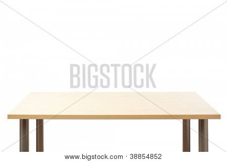 Empty top of the table, isolated.