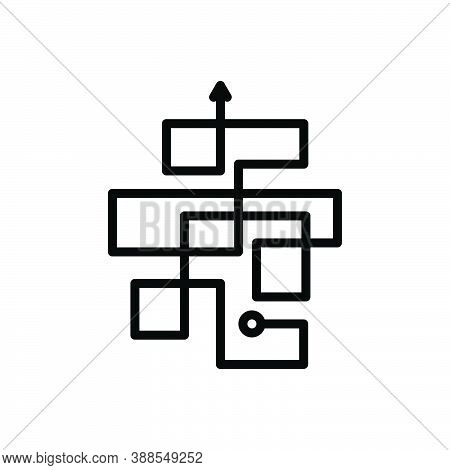 Black Line Icon For Complicated Complex Difficult Arrow Hard Messy Complexity Mystery