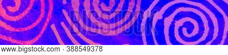 Blue Neon Geo Ethnic Print. Tribal Ornament. Bohemian Backdrop. Music Paper Texture. Magic Bohemian