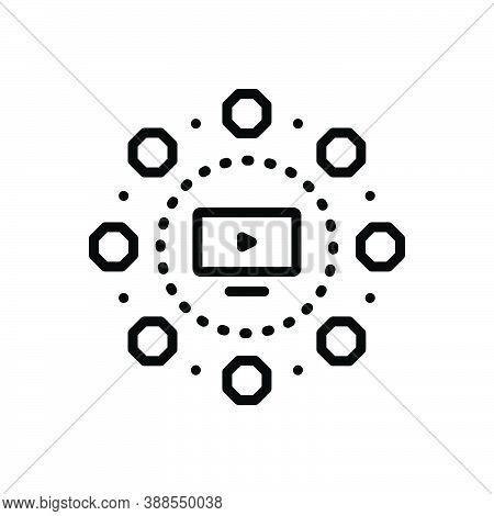 Black Line Icon For Comprehensive Extensive Pervasive Vast Mass Ambient Overall Complete