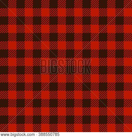 Buffalo Plaid Print Seamless Pattern, Red And Black Lumberjack Print, Plaid Check Pattern For Textil