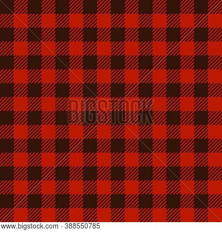 Buffalo Plaid Print Seamless Pattern, Red And Black Lumberjack Print, Plaid Check Pattern For Textil