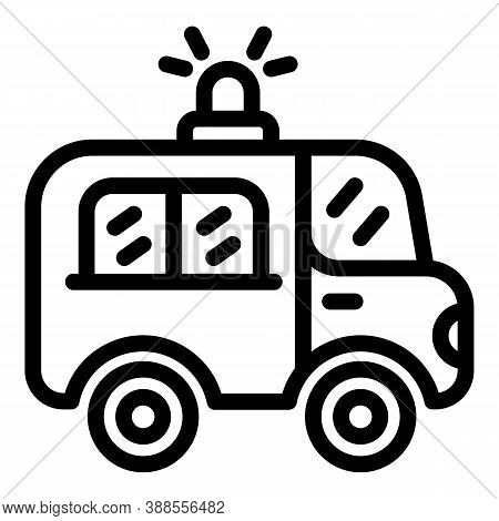 Ambulance Car Icon. Outline Ambulance Car Vector Icon For Web Design Isolated On White Background