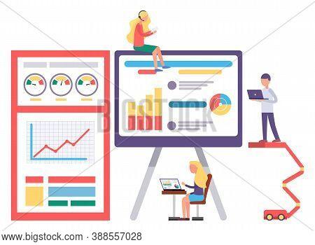 Web Analytics Information And Development Website Statistic. Web Cms Analysis Measure, Product Testi