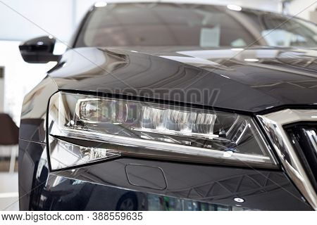 Russia, Izhevsk - September 25, 2020: New Car Business Class Superb With Elegant Head Lamps In The S