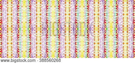 Indian Native American Pattern. Vintage Grunge Native Motif. Multi Colorful Rapport. Abstract Handdr