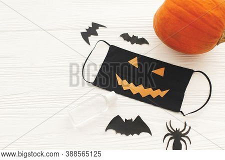 Celebrating Halloween 2020 In Safe Way During Coronavirus Pandemic With Social Distance