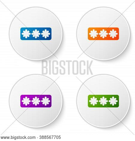 Color Password Protection And Safety Access Icon Isolated On White Background. Security, Safety, Pro